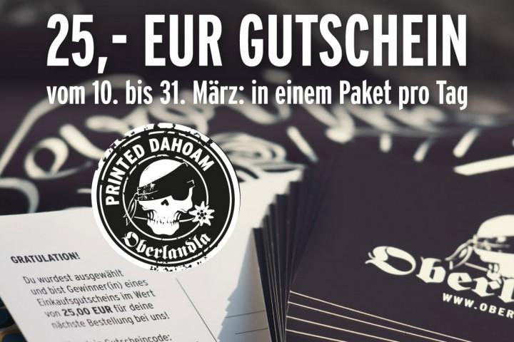 Jedn Dog oamoi 25 EUR geschenkt