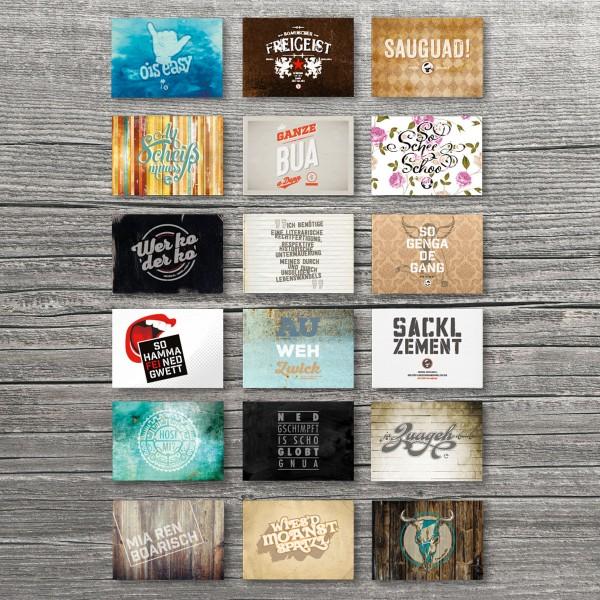 Postkarten mit Sprücherl