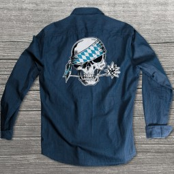 da Schädl (weiß-blau)