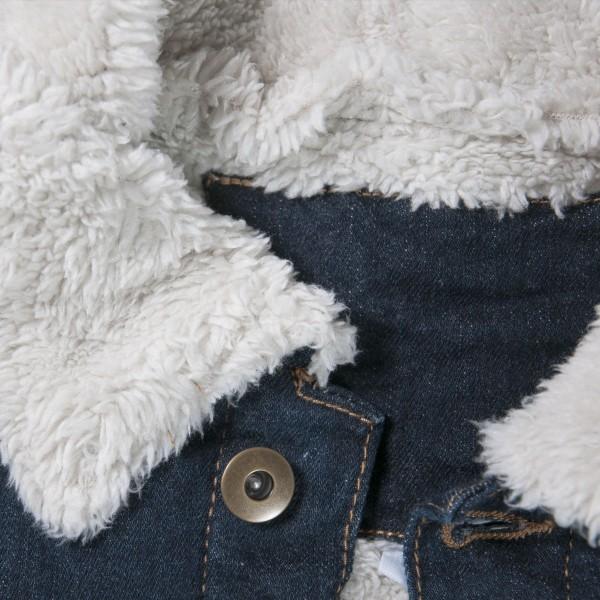 Männer-Jeansjacke (Teddy-Futter)
