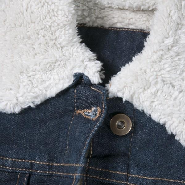 Frauen-Jeansjacke (Teddy-Futter)
